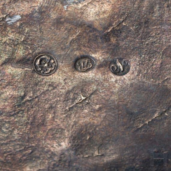 Silberne Zuckerdose, Breslau, um 1820
