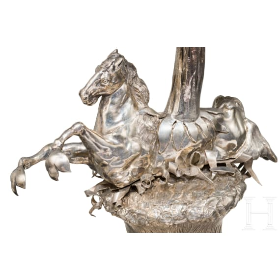 An unusual Flemish nautilus trophy with a hippocamp, 2nd half of the 19th century