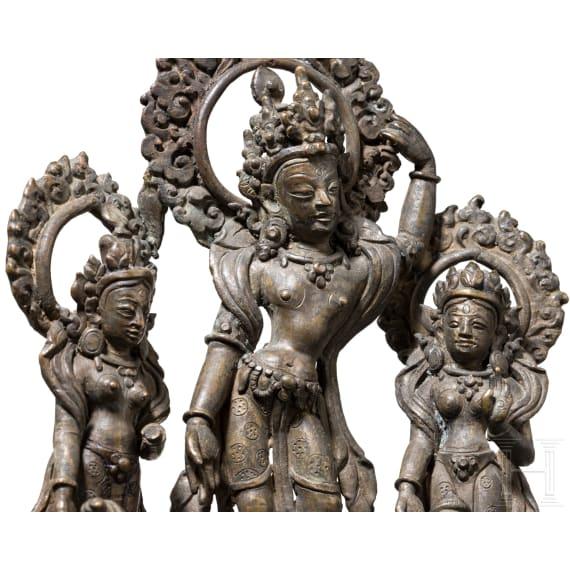 Bronzener Hausaltar, Nepal, 18./19. Jhdt.