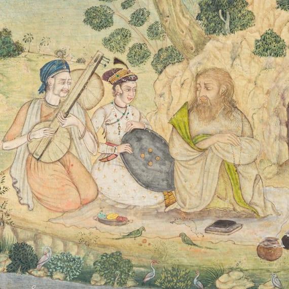 Mogul-Miniatur, Indien, 1. Hälfte 19. Jhdt.