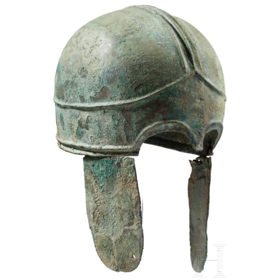 A pseudo-Chalcidian bronze helmet, northern Black Sea area, 4th century B.C.