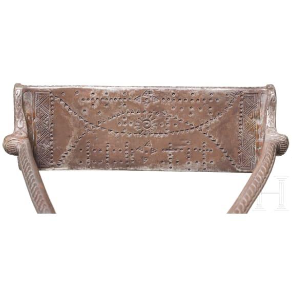 A pair of northern or eastern European silver Viking stirrups, circa 11th century