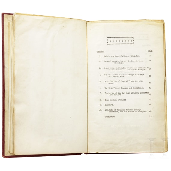 Verlust-Report zur Schlacht um Shanghai (1937), vom Gutachter- & Sachverständigenbüro ELLIS & BUCKLE 淞沪会战 战争损失评估报告