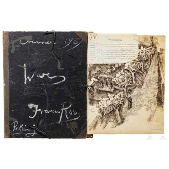 Zeichnungen eines britischen Künstlers in Peking aus der Zeit der japanischen Invasion
