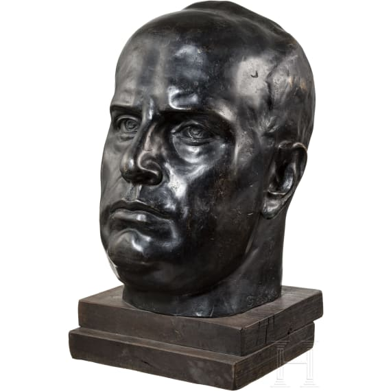 A monumental portrait bust of Benito Mussolini, Italy, 1925 - 1930