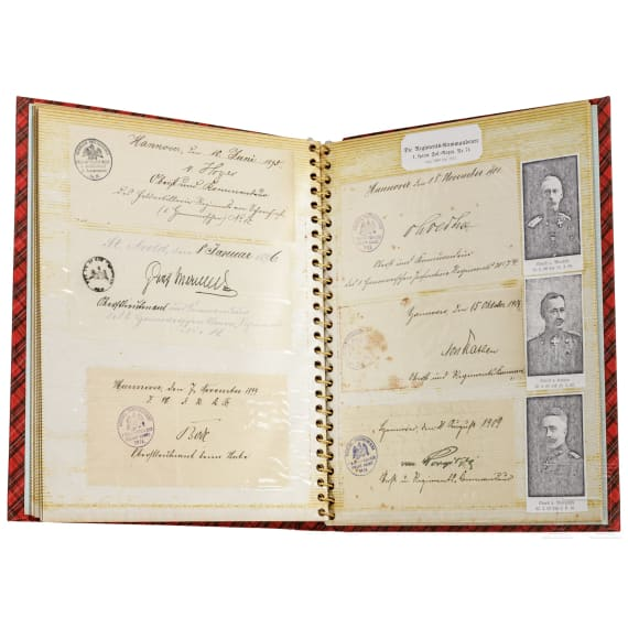 A large group of autographs from the Kingdom of Hanover to the Reichswehr from 1863 to 1935