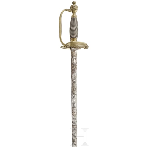 An officer's small sword, reign of Frederick the Great (1740 - 1786)