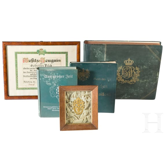 An honorary hunting hanger of the Lauenburg Jäger Battalion No. 9 with document