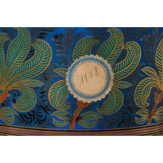 Prince Otto von Bismarck - a Lobmeyr vase as a state gift, late 19th century