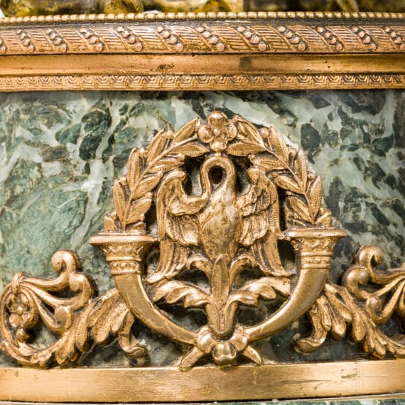 A table eagle on green stone base, 19th century