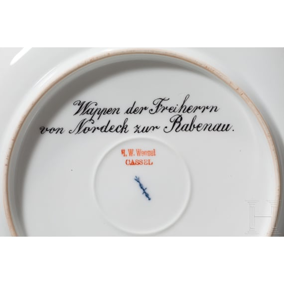 20 KPM plates with handpainted coats of arms