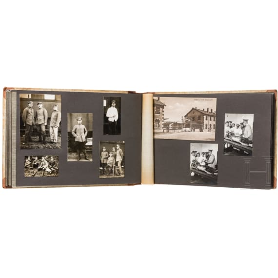 Prof. Dr. Gustav Scholten - a photo album 1916-18 and his dog tag