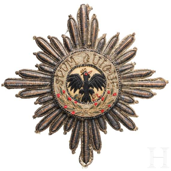 Hoher Orden vom Schwarzen Adler - Stern in gestickter Ausführung