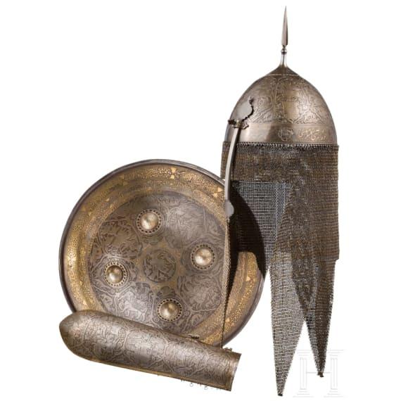 Eisengeschnittene Rüstungsgarnitur, Persien, datiert 1797