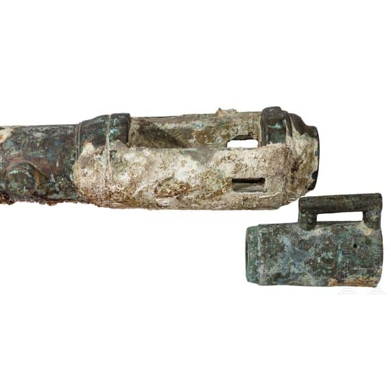 A bronze Italian breech-loading naval gun, 16th century