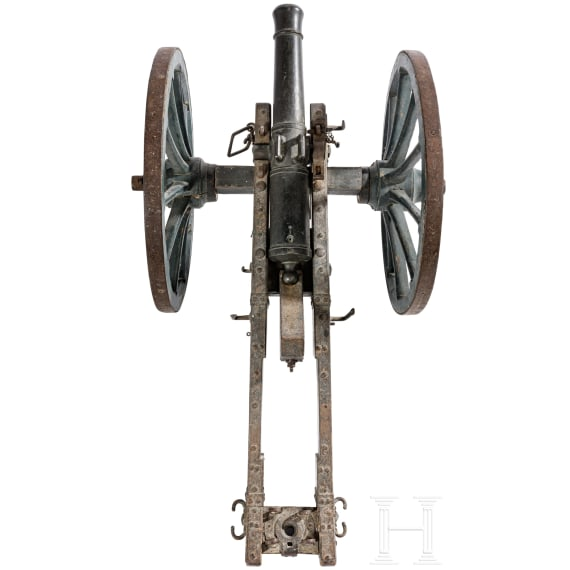 A French miniature fieldgun, ca. 1800