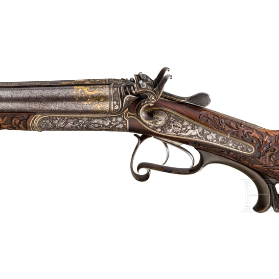 A luxury side-by-side shotgun L. Dieter, Munich, from the estate of Prince Ludwig Ferdinand of Bavaria, late 19th century