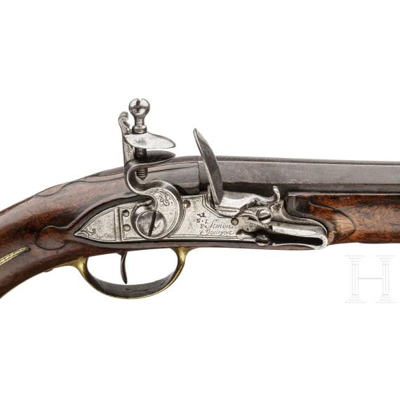 A French cavalry pistol of the Gendarmes de la Garde du Roy, post-1763 pattern