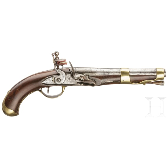 A French flintlock pistol Mod. 1763/66 2nd version, St. Etienne, circa 1775