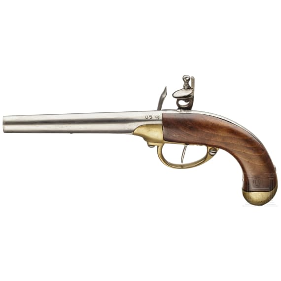 A French cavalry pistol M 1777, 2nd model