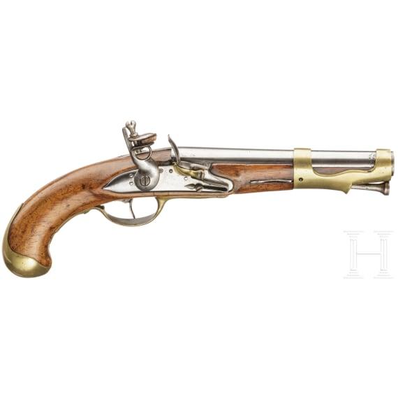 A French military flintlock pistol, M an 2, circa 1790