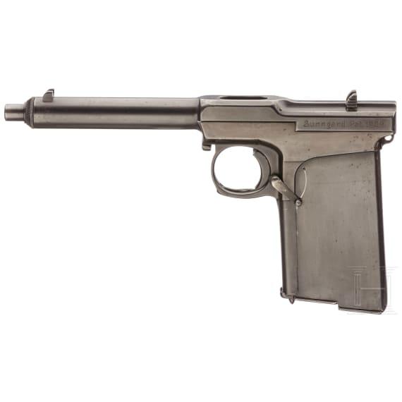 Sunngard Mod. 1909, Prototyp/Blech-Experimentierpistole, zwei ngl. Magazine