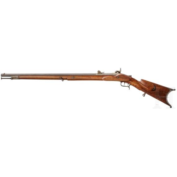 A Swiss M 1851 sniper rifle
