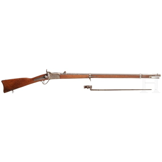 Geniegewehr System Peabody M 1867, mit Bajonett