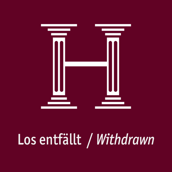 Los zurückgezogen / Withdrawn from sale
