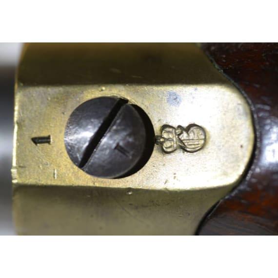 A German cavalry percussion pistol M 1850, Danzig, 1853