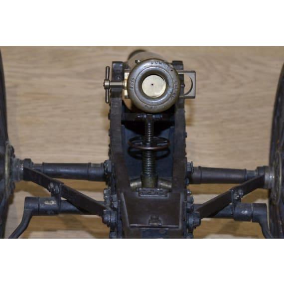 A model of a German fieldgun with limber, dated 1876