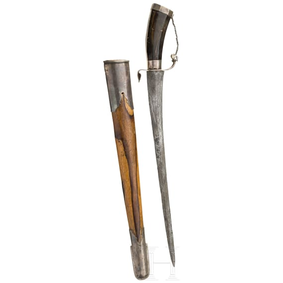 A Sumatran silver-mounted pedang, 19th century