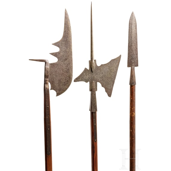 Three German polearms, 19th/20th century