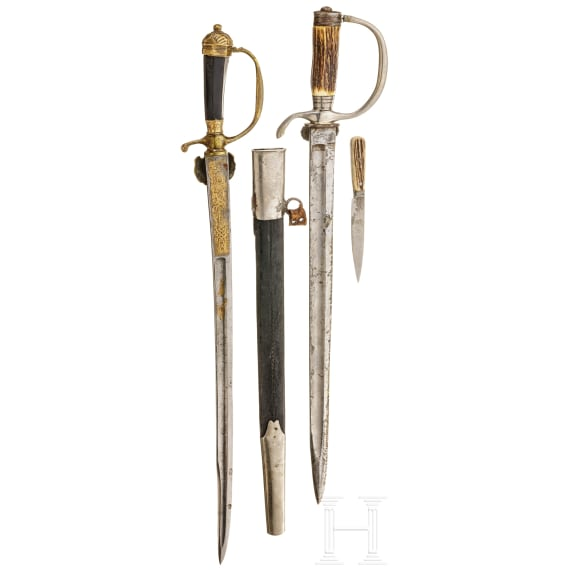 Two German hunting hangers, 18th/19th century