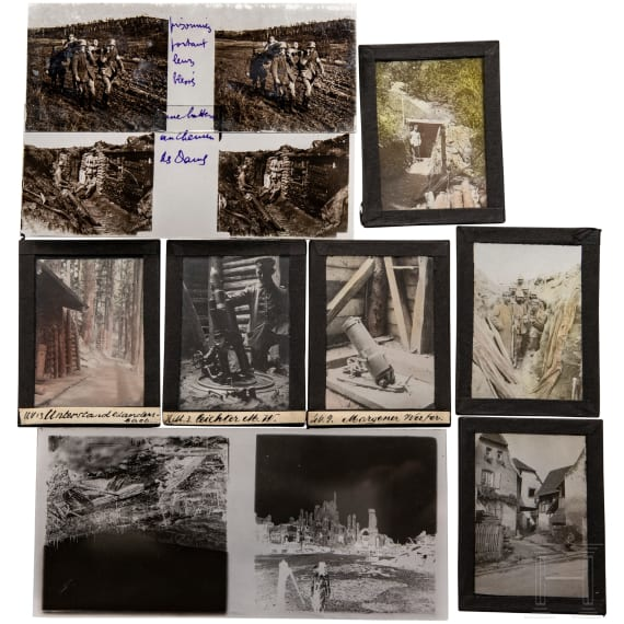 About 300 glass plates/negatives from the war in France