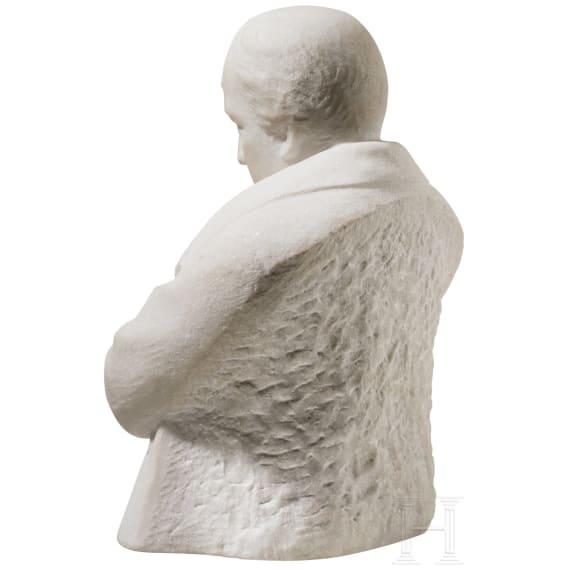 A heavy marble bust of Napoleon Bonaparte, 20th century