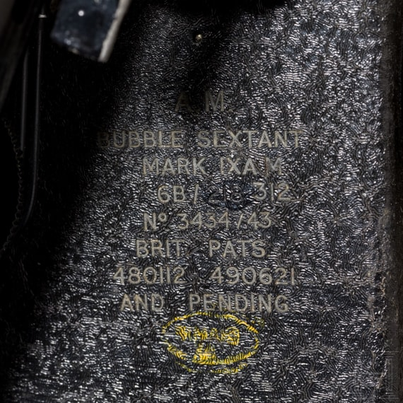 """A """"Bubble"""" sextant of the """"Mark IX AM"""" type"""