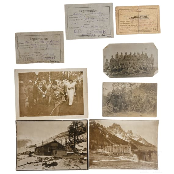 Austria - a group of photos and documents Alpine front 1914-18