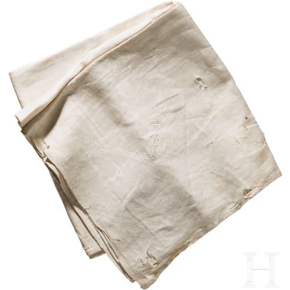 Archduke Franz Salvator of Austria-Tuscany (1866 - 1939) - linen damascus napkin