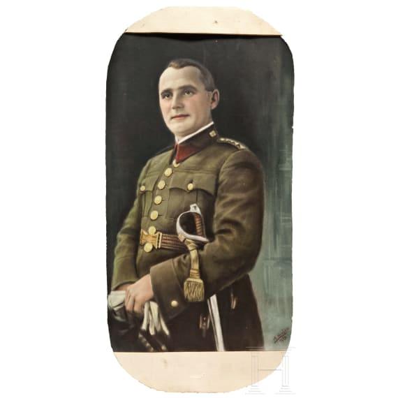 A Czech uniform portrait, dated 1933