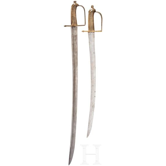 Two Bavarian infantry sabres, similar to M 1794