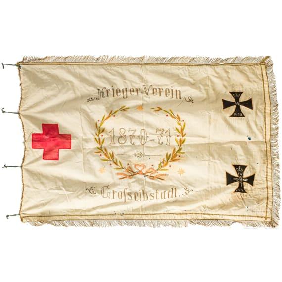 Kriegervereinsfahne Großeibstadt, datiert 1895