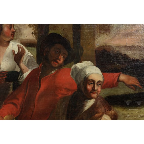 A large Dutch old master painting, 17th century