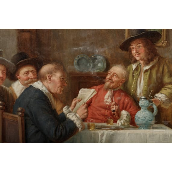 A painting by Franz Wagner ind the style of the 17th century, 19th century