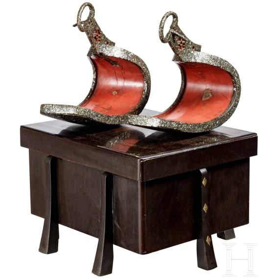 A pair of Japanese abumi, 18th century