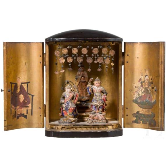 A Japanese Zushi (travel cabinet), late Edo period