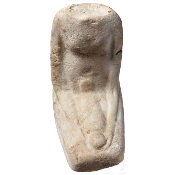 Egyptian sandstone figure, 7th - 4th century BC
