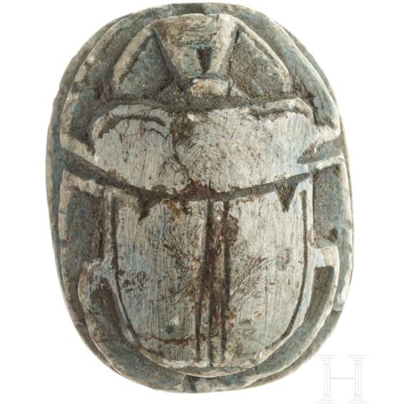 An Ancient Egyptian amulett scarab, 2nd - 1st millenium B.C.