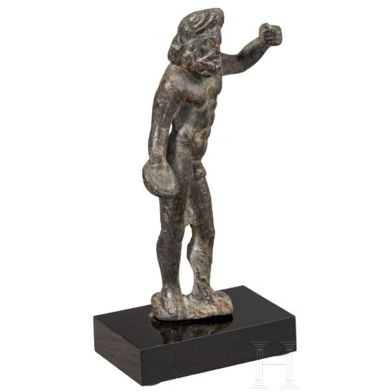 A Roman bronze statuette of Iupiter Optimus Maximus, 2nd - 3rd century