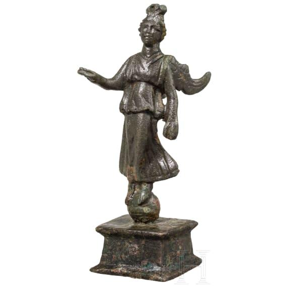 A Roman bronze statuette of Victoria, 2nd - 3rd century